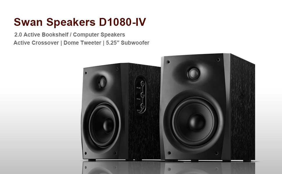 Swans D1080-IV Powered Studio Monitor Speaker