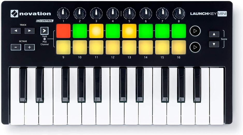 best_midi_keyboard_audiowavegeek_8_Novation LAUNCHKEY MINI MK2 25 Key USB Midi Keyboard Controller