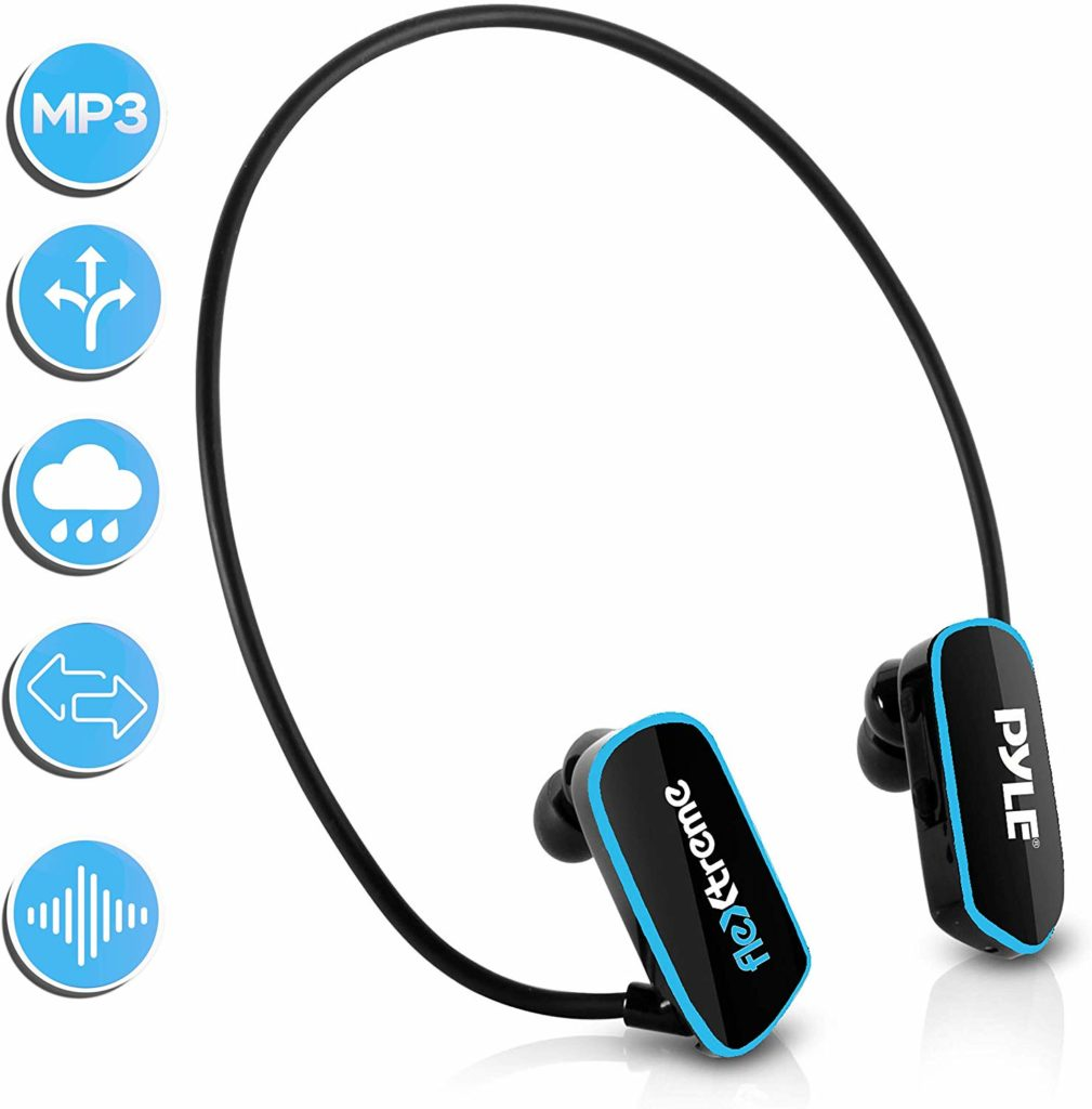 Waterproof MP3 Player Swim Headphone Submersible IPX8 Flexible WrapAround Style Headphones_audiowavegeek